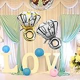 Ungfu Mall 1 PC 24.8x17.7Inch Groß Diamant Ring Aluminiumfolienballon I DO Luftballons Vorschlag Valentine Hochzeit Dekoration