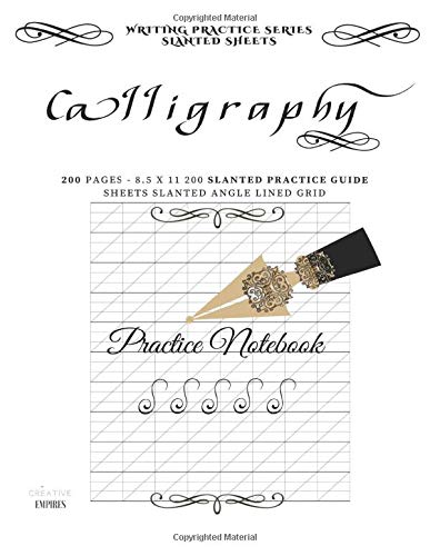 Calligraphy Practice Notebook: 200 cream 80gsm Pages 8.5x11 Calligraphy Grid Practice Sheets: Volume 2