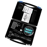 Olight® M3XS-UT Javelot Kit LED Taschenlampe max. 1200 Lumen Cree XP-L LED taktisch, Schwarz - Box-Verpackung mit 2 x 18650 3600mAh Batterien Akkus, 1 x Omni Dok Ladegerät und 1 x Verlängerungsrohr - 3