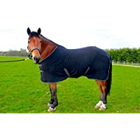 "NEW NAVY HORSE COB PONY SHOW TRAVEL FLEECE RUG 3'6-7'0"" stable cooler choice of Sizes"