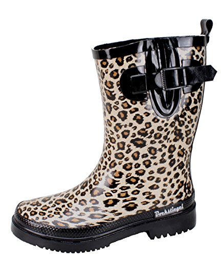 BOCKSTIEGEL® STINE Donna - Stivali di gomma alla moda (Taglie: 36-42), Colori:Brown/Multi;Dimensioni:36 Brown/Multi