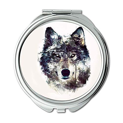 Yanteng Spiegel, Runder Spiegel, Perfekt für Hund, Taschenspiegel, 1 X 2X Vergrößerung