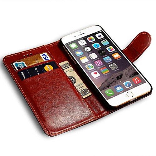 aridox (TM) Acide phytique IP6/6S Touch Fleurs 3D de luxe en cuir pour iPhone 6/6S 11,9cm avec fente pour carte et monnaie design Coque Capa Support pour iPhone 6