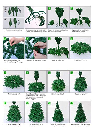 Artificial Árbol de Navidad, natural Verde, material PVC, Incluye Soporte de Base, soporte en metal, 1.8M 180cm 550 ramas