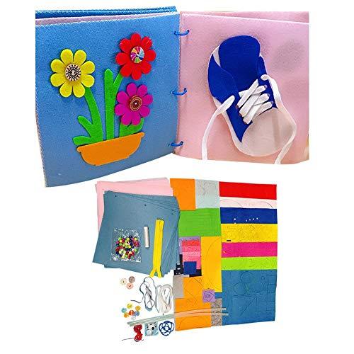 h Für Babys - Soft Activity Crinkle Book Schnürsenkel Zu Binden, Zeit - Ungiftig Entwicklungsspielzeug Geschenk Für Jungen Und Mädchen ()