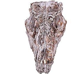 Cráneo Del Dinosaurio De Resina Réplica De Esqueleto Colección De Figurillas Decoración De La Barra De Color Marrón