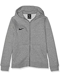 Nike Club19 Full-Zip, Felpa con Cappuccio Unisex Bambini, Dk Heather/Dark Steel Grey/Black, S