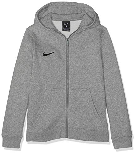 Nike Kinder Y Hoodie Fz Flc Tm Club19 Kapuzenjacke , Grau (dk grey heather/dark steel grey/black/(black) , M