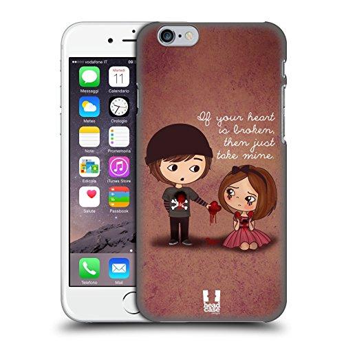 Head Case Designs Je Te Donne Mon Coeur Amour Mignon Emo Étui Coque D'Arrière Rigide Pour Apple iPhone 4 / 4S Je Te Donne Mon Coeur