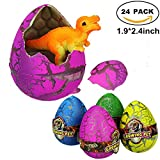 Atcket 30 Stck Large-sized Cute Magic Hatching wachsende Haustier Dinosaurier Eier fr Kinder, Mini Spielzeug Dinosaurier Figuren im Inneren