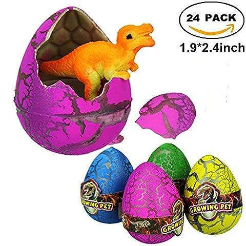 Atcket 30 pcs Medium-sized Cute Magic Hatching Growing Pet Dinosaur Eggs For Kids,Mini Toy Dinosaur Figures Inside