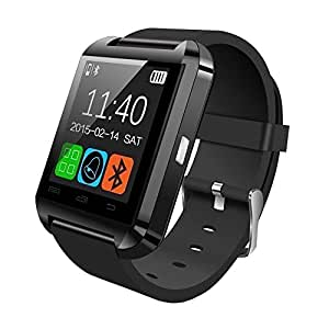 sampi HTC One Max Compatible Certified Bluetooth Smart Watch U8 Wrist Watch Phone New Arrival Best Selling Premium Quality Pedometer Sleep Monitor, Anti Lost Feature Touch Screen, Music Playing