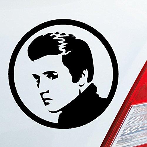Auto Aufkleber in deiner Wunschfarbe Elvis Presley King RIP Rest in Peace 10x10cm Autoaufkleber Sticker Folie (Presley-dekorationen Elvis)
