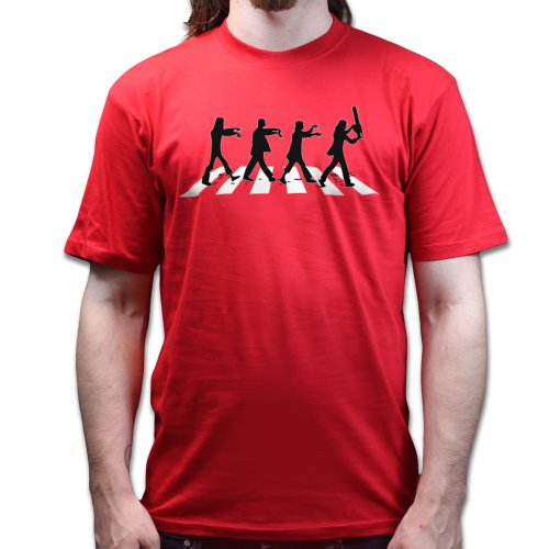 Beatle Zombies Abbey Road T-shirt Rot