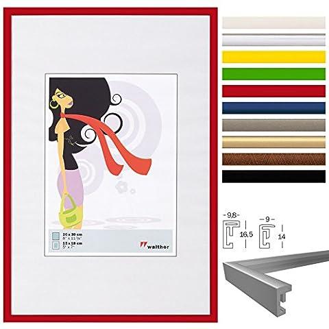 WOLTU #315 Bilderrahmen Bildergalerie Fotogalerie , Foto Collage Galerie , Kunststoff und Echtglas , New Life Style , Rot , 13x18