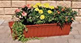 Blumenkasten 100 cm terracotta mit Wasserspeicher MADE IN GERMANY