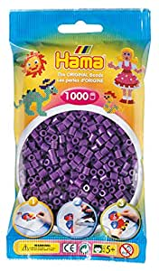 Hama - 207-07 - Loisirs Créatifs - Perles et Bijoux - Sachet 1000 Perles - Violet