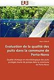 Evaluation de la qualité des puits dans la commune de porto-novo