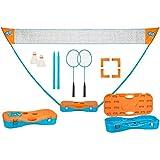 SCHREUDERS SPORT unisex Get and Go Instant badminton Game set, blu/arancione, taglia unica