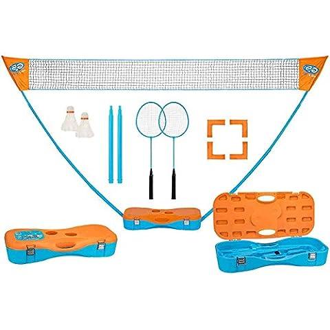 Schreuders Sport Unisexe obtenez et Passez instantanément de badminton Set de jeu, Bleu/orange, taille unique