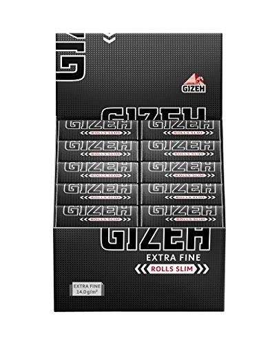 Gizeh Extra Fine Rolls Slim 5m Länge Endlospapier 1 Box (20 Rolls) (Lange 1 Box)