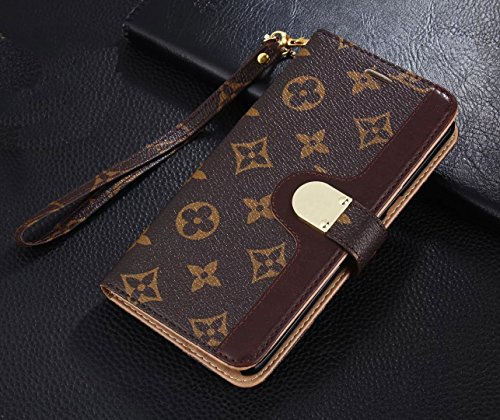 Bifold Magnetic Flip Filo Wallet Schutzhülle für Luxus berühmten iPhone 5 6 7 8 Plus S X 10, for iPhone X, Classic Flowers Max (Iphone 5 Gucci Wallet)