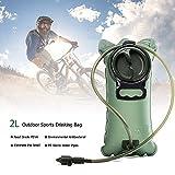 Tragbare Trinkblase 2L Wasserbeutel, Einfache Reinigung Große Öffnung Trinkblasen Wasserbeutel für Rucksack Camping, Trekking, Radfahren & Outdoor-Aktivität