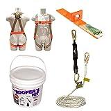 Madaco Dachbau Fallschutz Ganzkörper-Industrie Sicherheitsgurt 50FT Seil Shock Packs Verwenden Anchor Kit ANSI OSHA Größe M-XXL