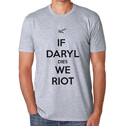 If Daryl Dies We Riot Quote Herren T-Shirt Grau