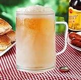 Bierkrug zum Einfrieren 400ml Frozen Mug Kühlbecher Trinkglas mit Kühlakku 0,4 Liter