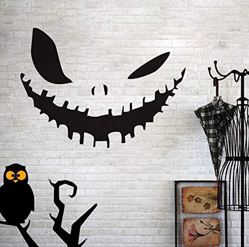 ht Happy Halloween Party Decals Moderne Wandaufkleber Für Schlafzimmer Wohnzimmer Wohnkultur Wasserdicht Zubehör Wallpaper44x32cm ()