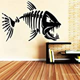 TYLPK Big Tooth Shark Wandaufkleber Design Wohnzimmer Kunst Wandaufkleber Abnehmbare Hauptdekoration...