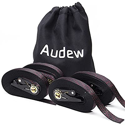 Audew 4 x Ratchet Tie-Down Straps 25mm x 6M, Endless Loop Lashing Straps, Heavy Duty Ratchet Strap, Webbing Strap Cargo Tie-Downs for Cam Buckles, Car , Trailer, Luggage, Household Goods - inexpensive UK light shop.