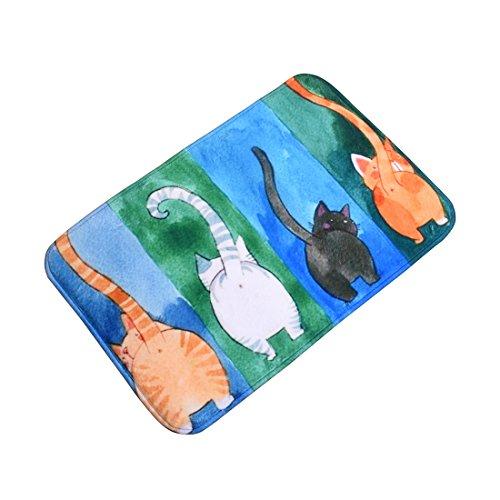 Surui Fußmatte Schmutzmatte mit Katzenmotiv Fussmatten Türmatten Fußabtreter Auswaschbar für Eingangsbereiche Bad Home #4 40x60 cm
