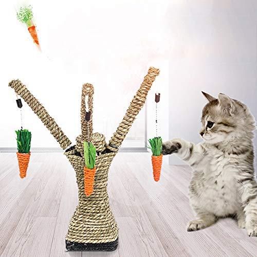 strimusimak Katzenspielzeug für Katzen, Katzen, Baum-Form, zum Aufhängen, Kratzfest