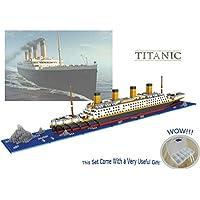 Sanzo The Titanic Model Micro Block Build Set 1860pcs - Nano Micro Diamond Blocks DIY Toys(With Useful Tools and Original Box Best For Gift)