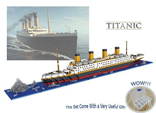 Die Titanic Modell Micro Blöcke Bauen set 1860 Stück – Nano Micro Diamant Blöcke DIY Spielzeug (mit nützlichen Werkzeugen und Original-Box am besten für Geschenk)