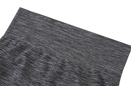 Qutool Sporthose / Leggings für Damen, geeignet für Fitnesstraining / Yoga / Laufen grau - grau