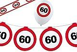 Dekoset Geburtstag Party 60 Jahre Verkehrsschild