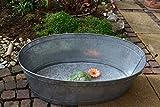 Maison en France Zinkwanne groß- Länge 77 cm- sehr stabile Zinkwanne praktisch+wasserdicht- Zinkwanne für den Garten,