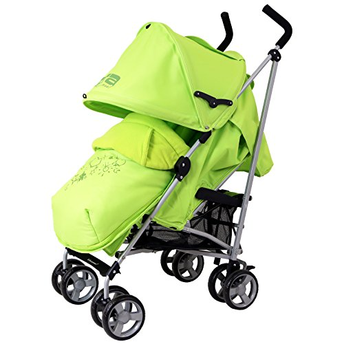 Zeta Vooom Complete – Lime With H&S Footmuff And Head Support 51Zn4 2Biu74L