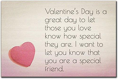 Mundus Souvenirs - Valentine's Day is a Great Day to. Holzschild mit Zitat zum Valentinstag, 15 x 10 cm