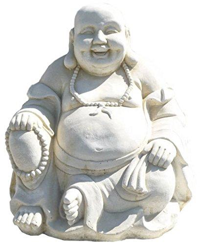 Bouddha en Pierre blanche reconstituée 50x50x56cm