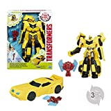 Hasbro Transformers B7069ES0 - Robots in Disguise Power Heroes Bumblebee und Buzzstrike, Actionfigur