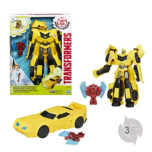 Transformers Robots in Disguise Power Surge Bumblebee and Buzz Strike Toy, Yellow