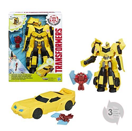 Hasbro Transformers B7069ES0 - Robots in Disguise Power Heroes Bumblebee und Buzzstrike, Actionfigur