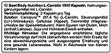 Best Body Nutrition L-Carnitin 1800 Kapseln Carnipure Vegan, 1er Pack (1 x 93 g)