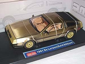 de Lorean Delorean ZurÜck in Die Zukunft Back To Future Gold Edition 1/18 Sun Star Sunstar Sunstar Modellauto Modell Auto