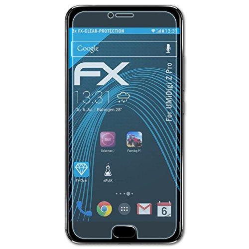 atFolix Schutzfolie kompatibel mit UMiDigi Z Pro Folie, ultraklare FX Bildschirmschutzfolie (3X)
