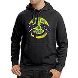 """Sweatshirt à capuche manches longues cadeau surf """"Shut Up and Surf"""" vetement de surf (X-Large Noir Multicolore)..."""